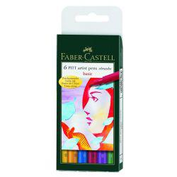 Faber-Castell Pitt Artist Brush Pen Wallet - Basic Colours