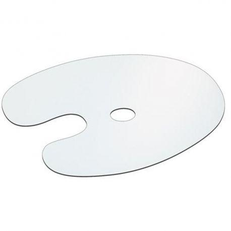 Flat Plastic White Palette Oval