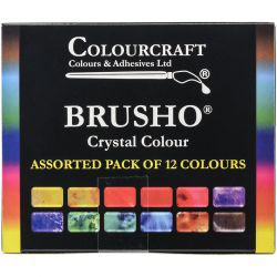 Crystal Colour Assorted Pack of 12 Colours