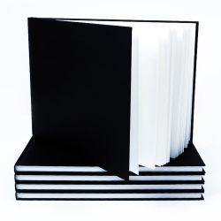 Black Cloth Hardback Sketchbooks A4 Landscape