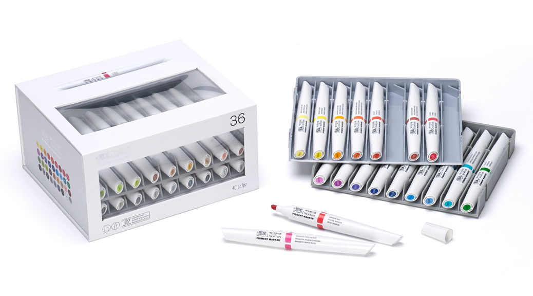Winsor and Newton Pigment Marker Set of 36
