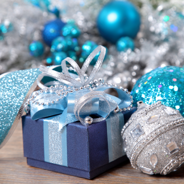 Blue and Silver Christmas Decorations