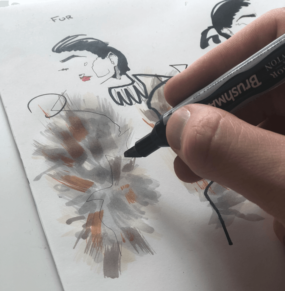 Scott W. Mason: Fashion Illustration Using Winsor & Newton Markers