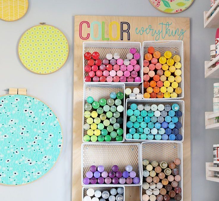 Art Supply Storage Ideas